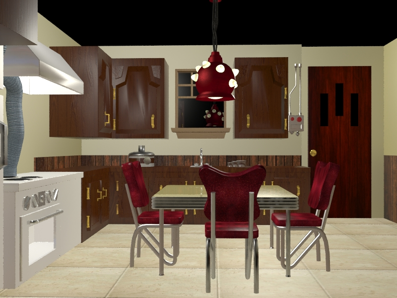 3D view of Valor Home kitchen