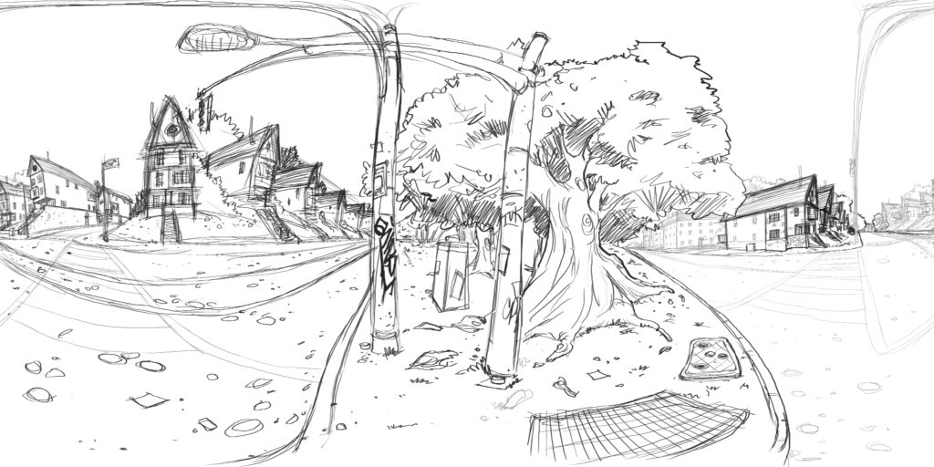Valor Home street view rough sketch